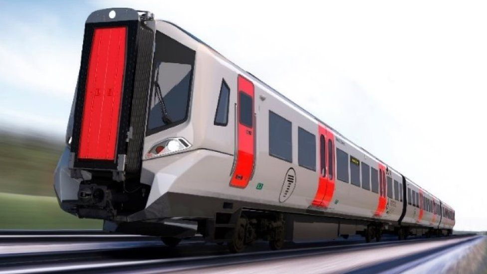 One of the new-look long distance trains