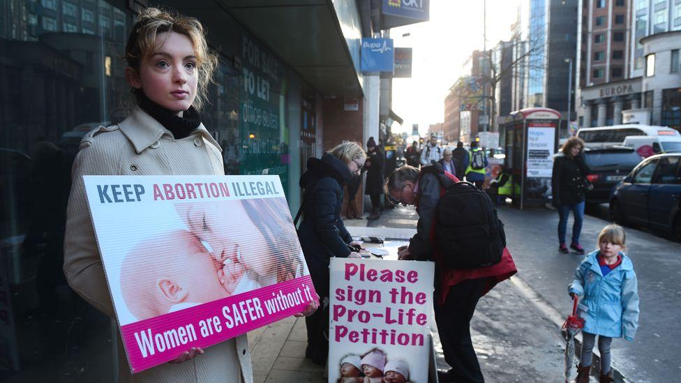 Anti-abortion protester, file pic