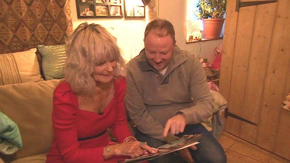 Andy Hider (left) with her son Ben Scott
