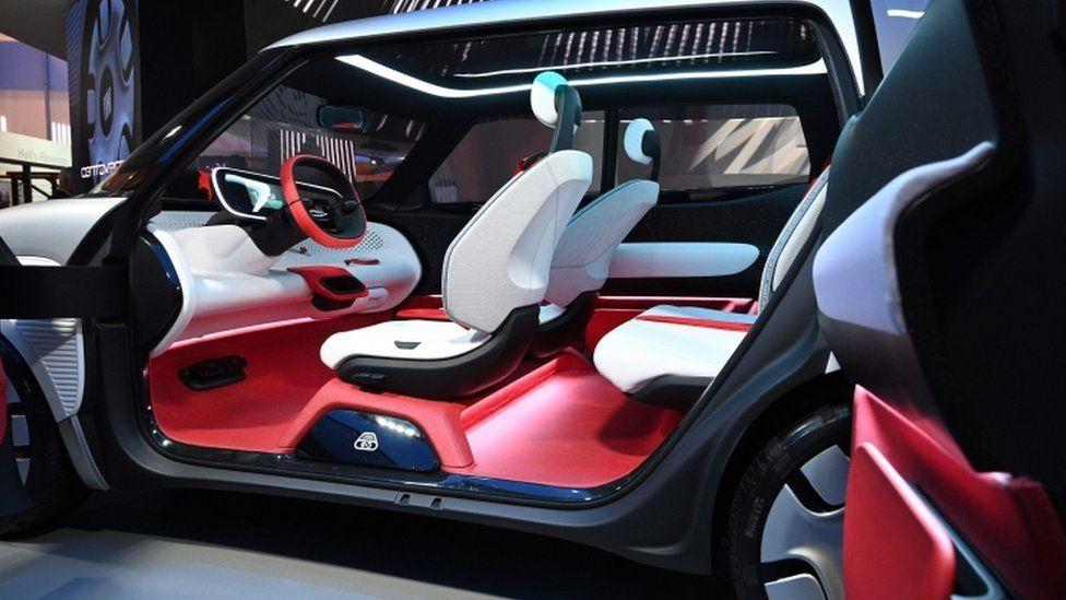 Fiat's colourful Centoventi concept car interior