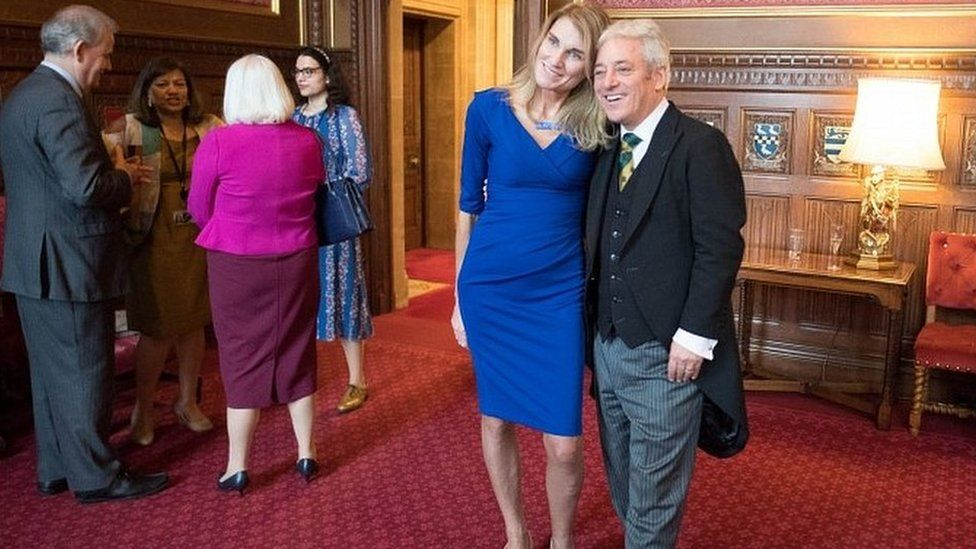 John Bercow and his wife Sally