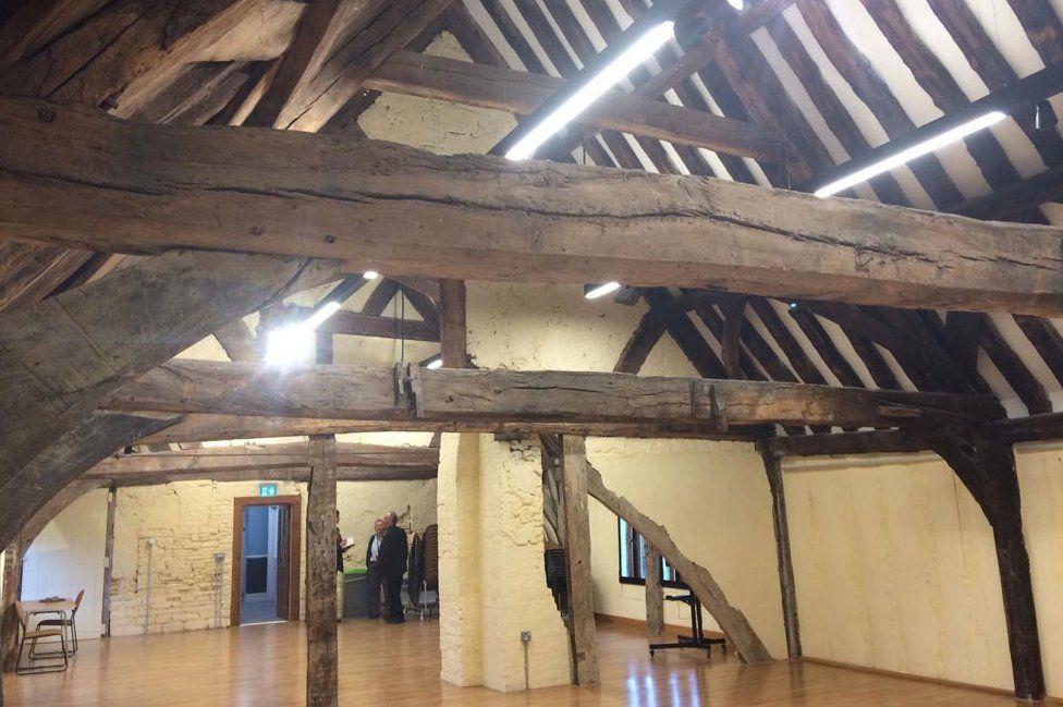 Inside Llanthony Secunda Priory