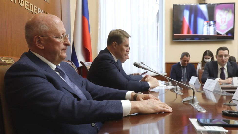 Image shows Russia's Health Minister Mikhail Murashko