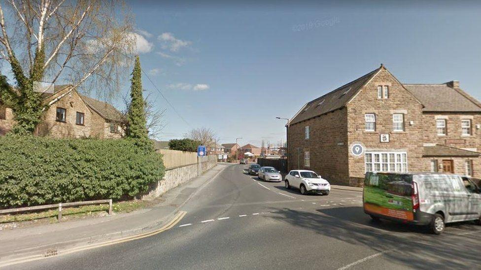 Fish Dam Lane junction with Shaw Lane in Carlton, Barnsley