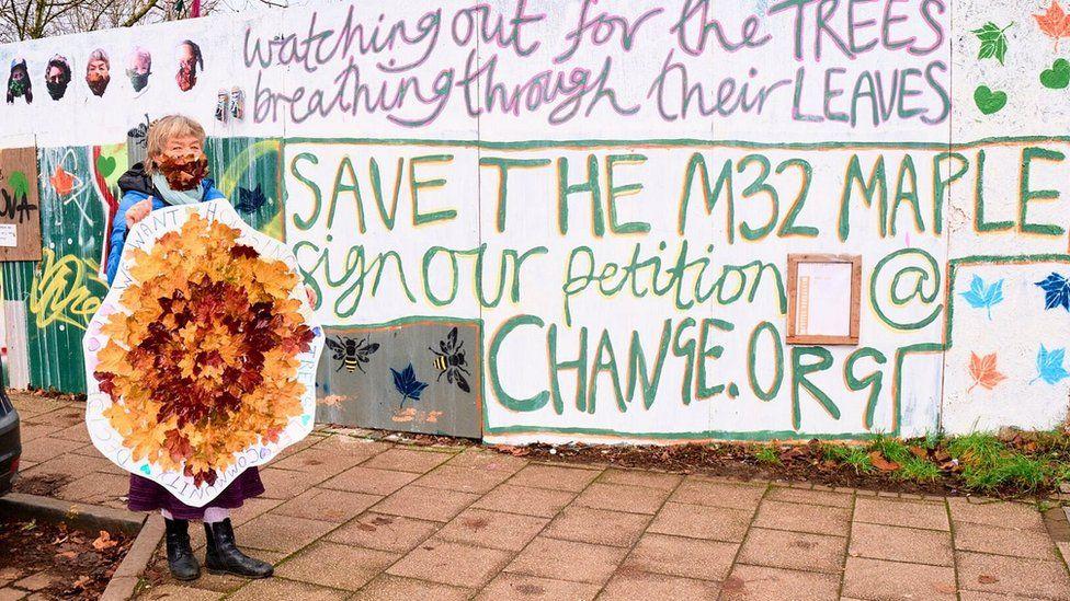 Bristol artist Deasy Bamford with her mandala