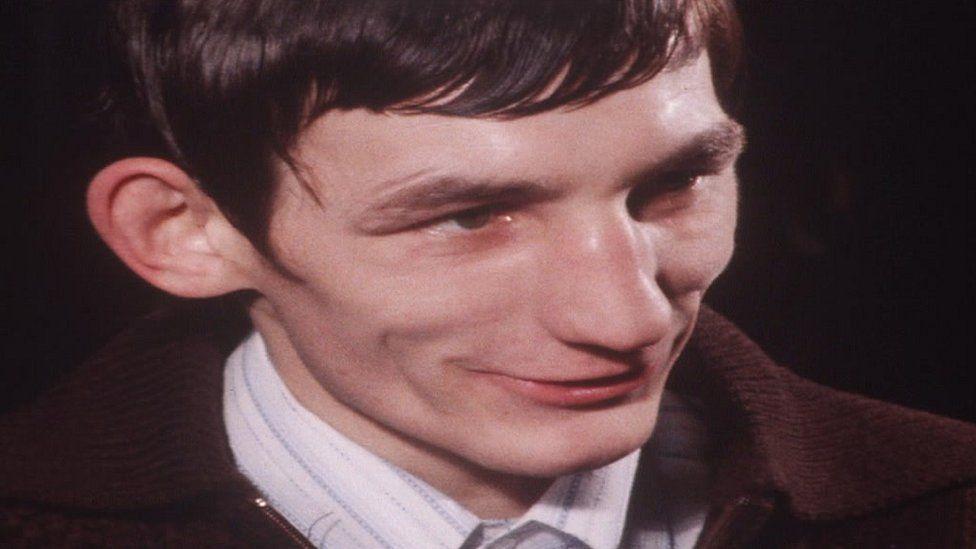 Photo of Johnny Owen being interviewed in 1979