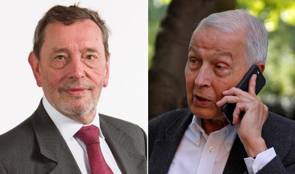 Lord Blunkett and Frank Field, right