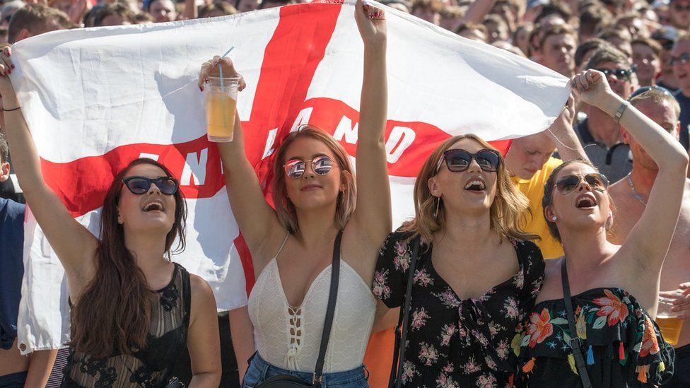 England fans in Bristol