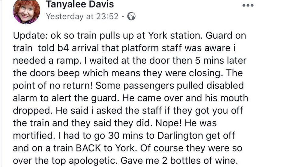 Tanyalee Davis message