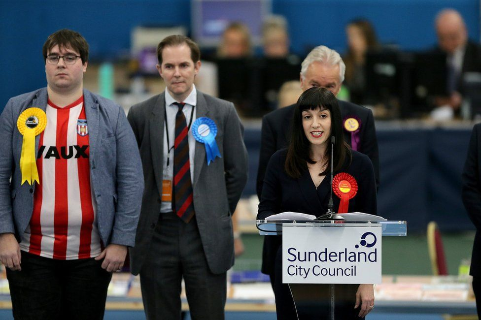 Labour's Bridget Phillipson gives a victory speech