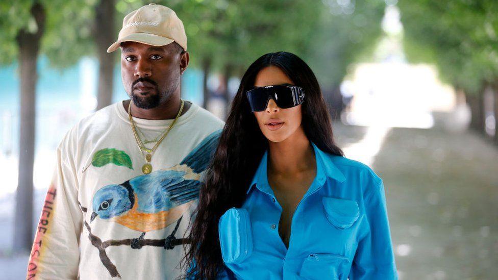 new product b97f3 392dc Kim Kardashian and Kanye West expecting fourth child - BBC News