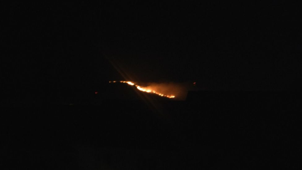 Firefighters have been called to deal with a blaze on Camlough Mountain in County Armagh
