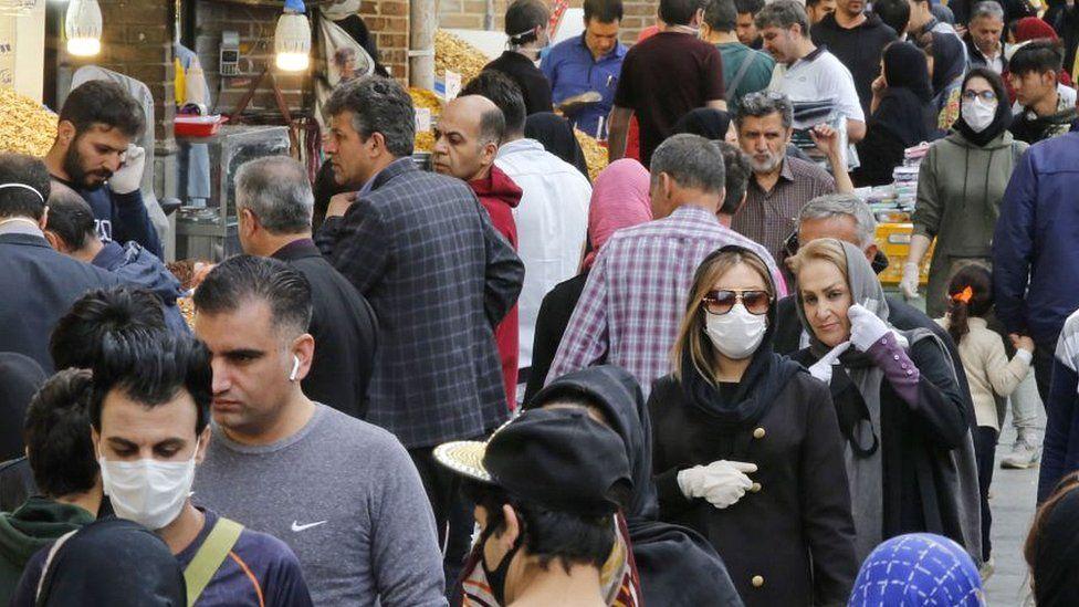 People in Tehran's grand bazaar