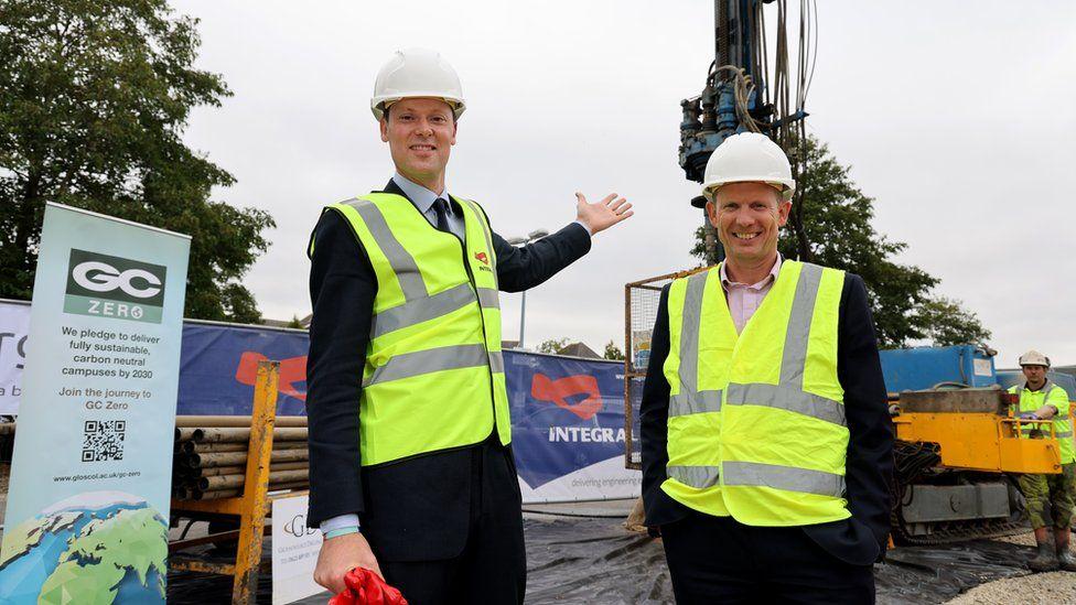 Cheltenham MP Alex Chalk and GC Principal Matthew Burgess