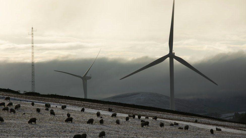wind turbines in Scottish Borders