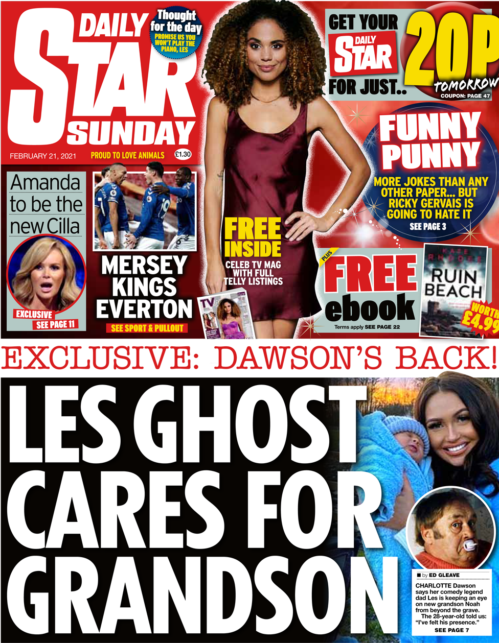 The Daily Star Sunday front page 21 February 2021
