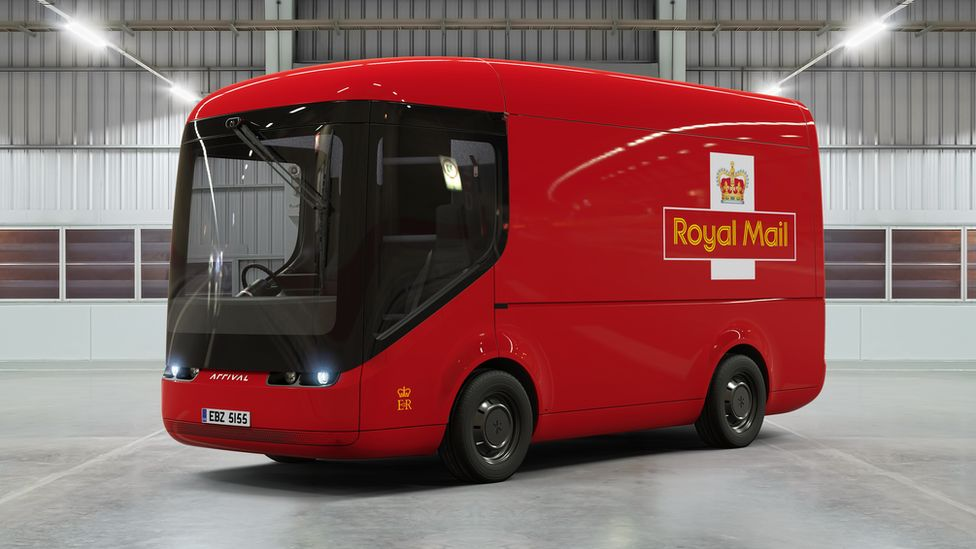 One of the new electric vans