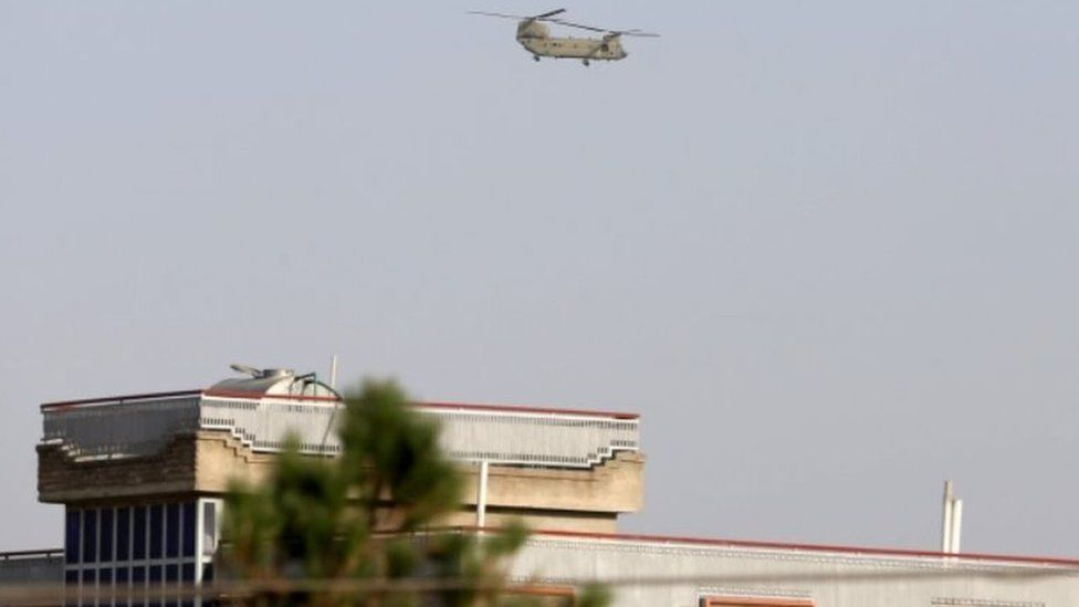 US helicopter over Kabul, 15 August