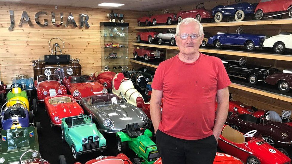 Collector S Haul Of Rare Pedal Cars Up For Sale Bbc News