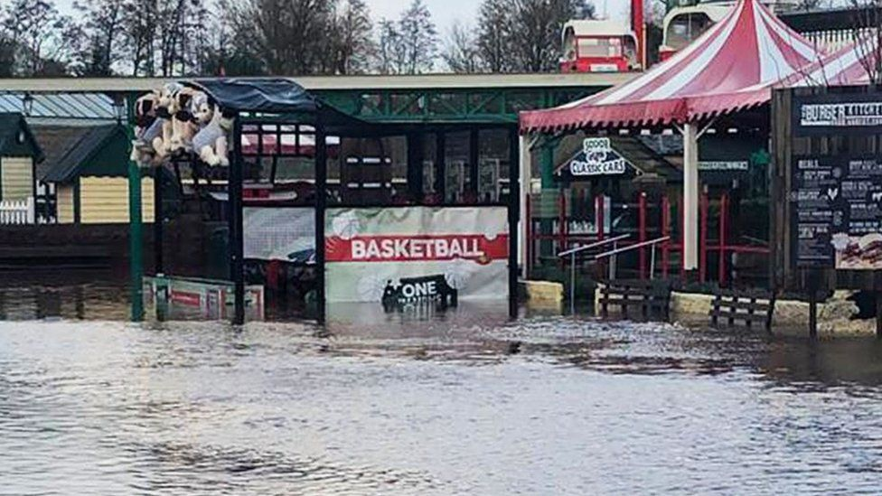 Drayton Manor flooding