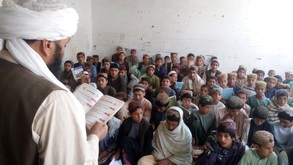 A class in the school in Musa Qala