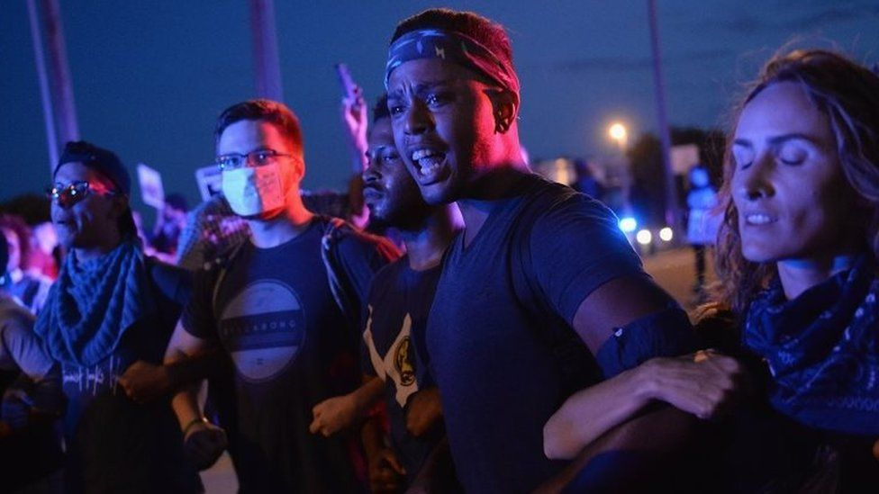 Protesters demonstrate in St Louis. Photo: 15 September 2017
