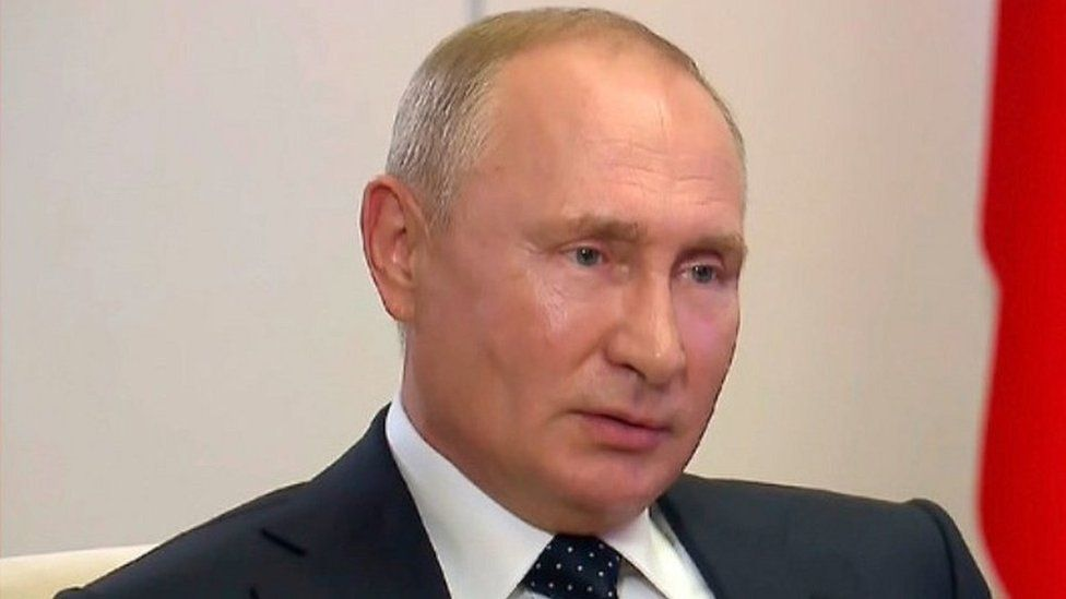President Putin on Rossiya 1tv, 27 Aug 20