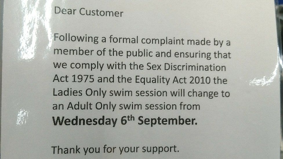Letter at Pulse leisure centre in Dursley