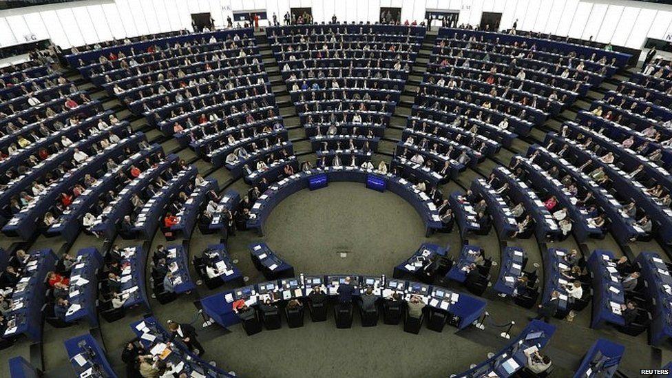 Aerial view of European Parliament