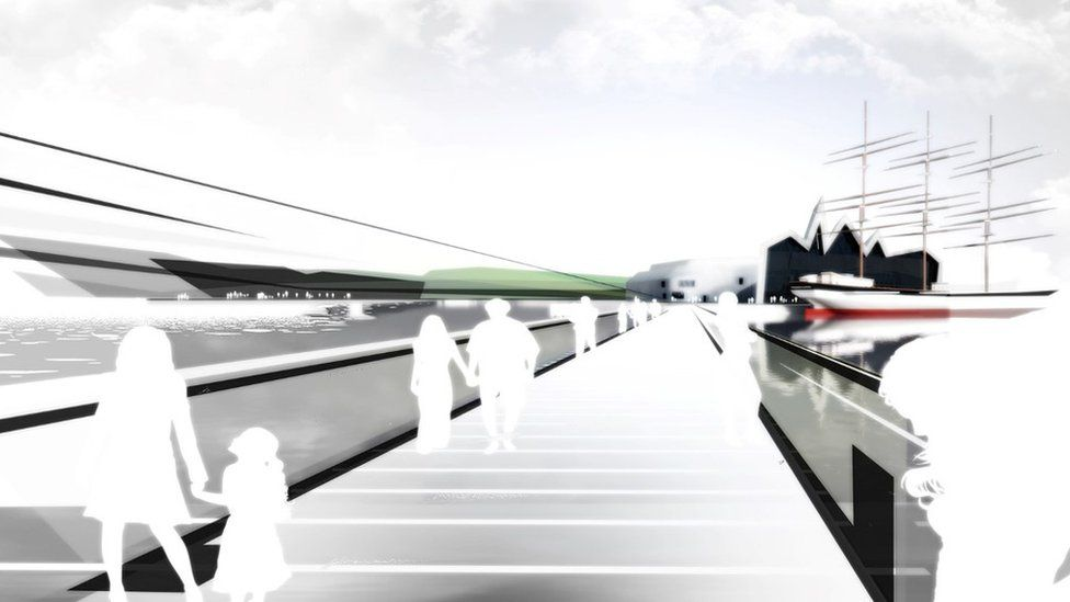 Artist's impression of how a bridge in the area could look