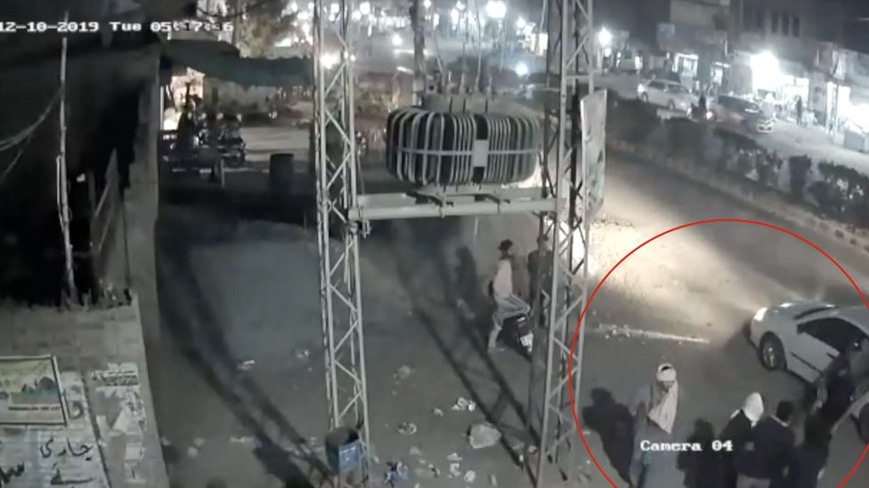 A still of the CCTV footage showing the kidnapping