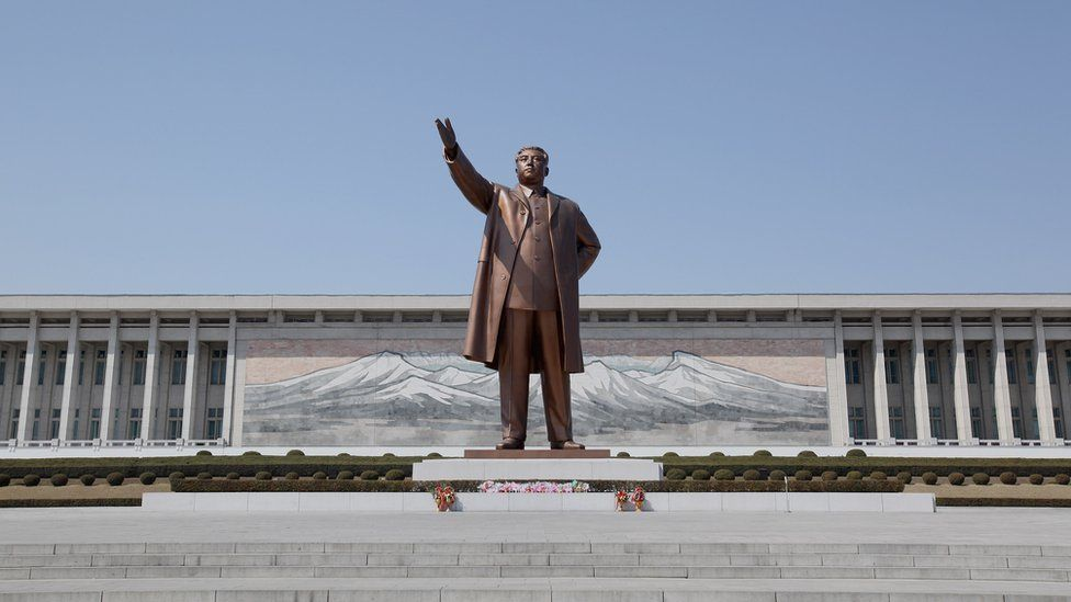 Immortal Statue of Kim Il=sung monument in Pyongyang