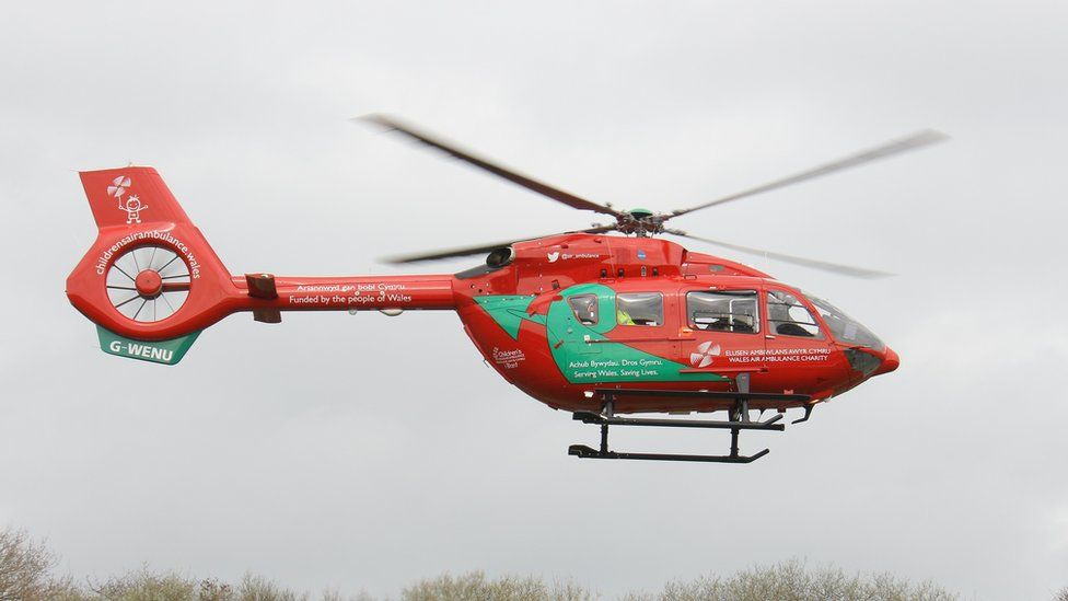 The new Wales Air Ambulance helicopter