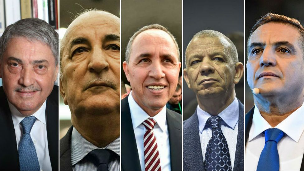 Ali Benflis, Abdelmadjid Tebboune, Azzedine Mihoubi, Abdelkader Bengrina, Abdelaziz Belaïd.