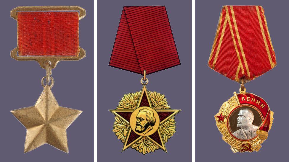 Soviet medals similar to those stolen