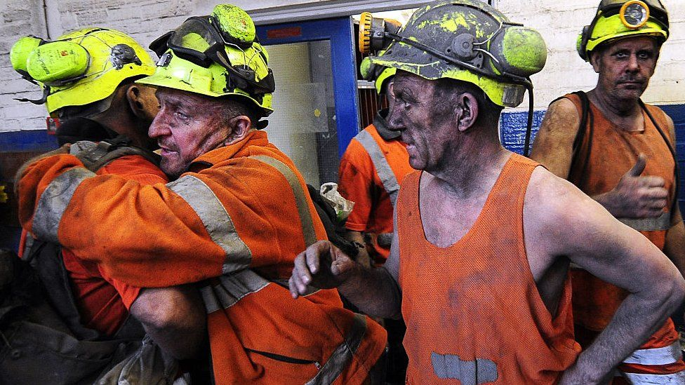 Miners embracing