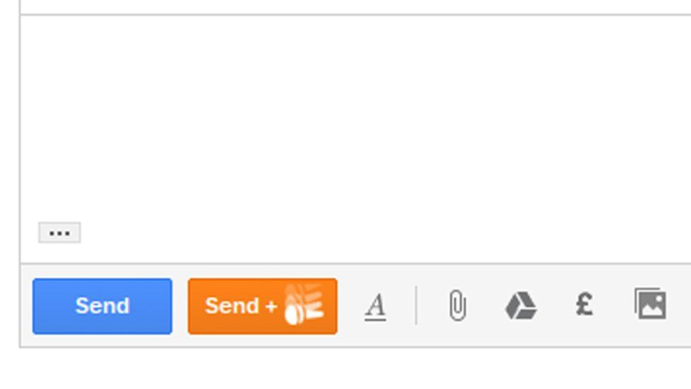 The 'mic drop' button appeared next to the normal send button in Gmail
