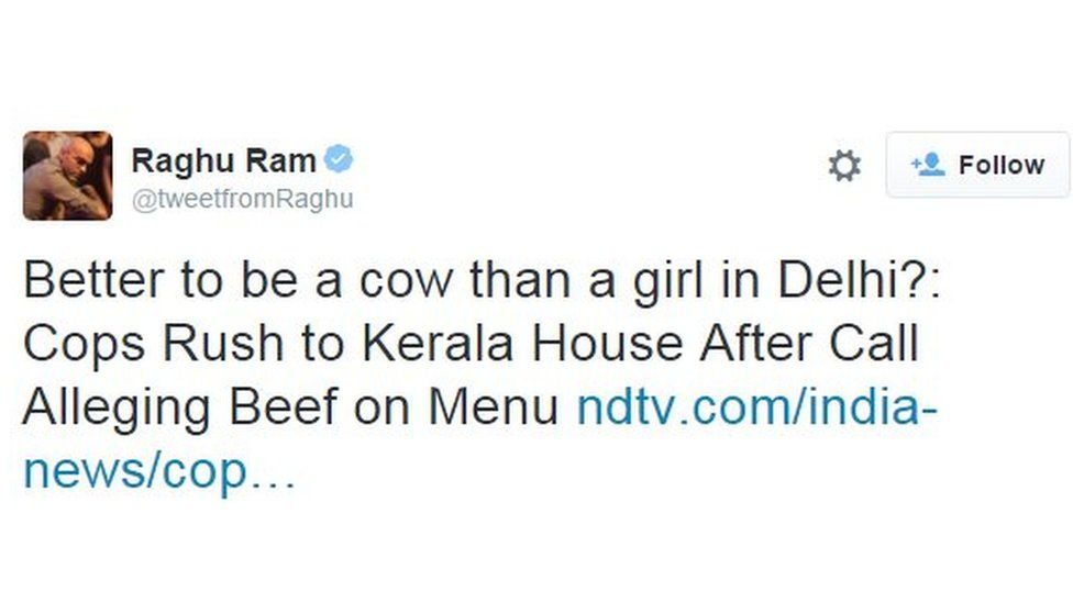 Better to be a cow than a girl in Delhi?: Cops Rush to Kerala House After Call Alleging Beef on Menu