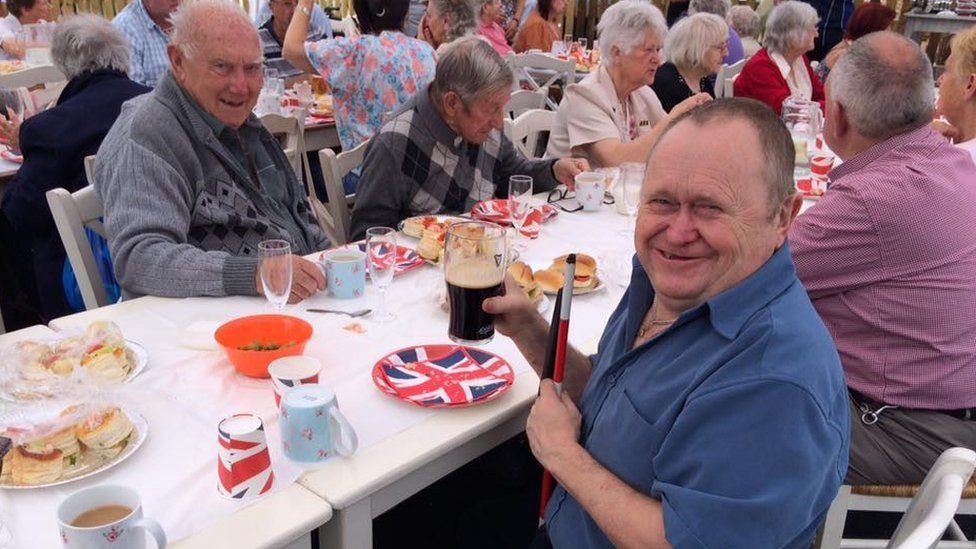 Street party held at a Brighton pub to mark the Queen's 90th birthday. Credit: Peter Hartley