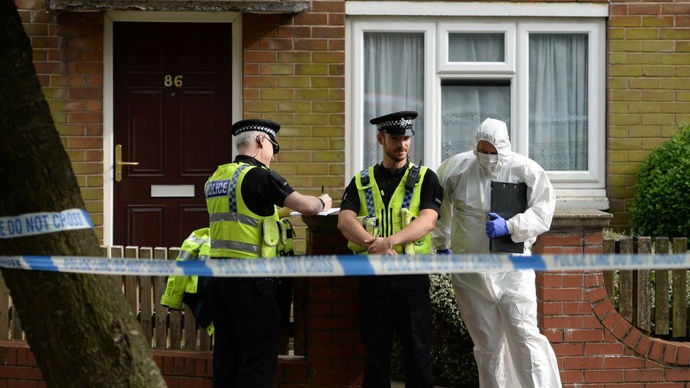 A house in Birstall is searched by police
