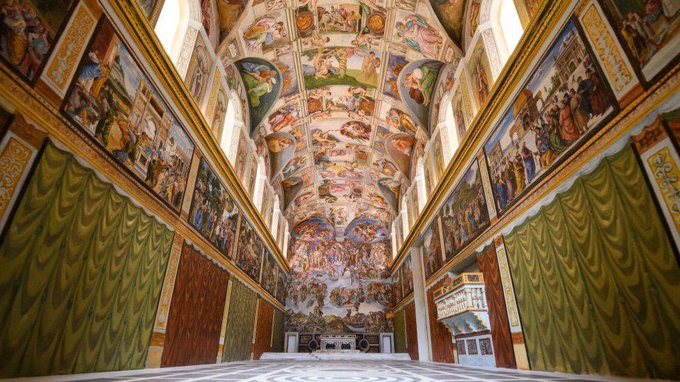 Miniature replica of the Sistine Chapel