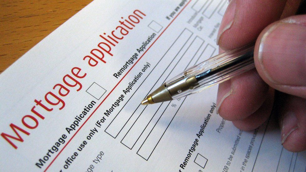 A mortgage application form