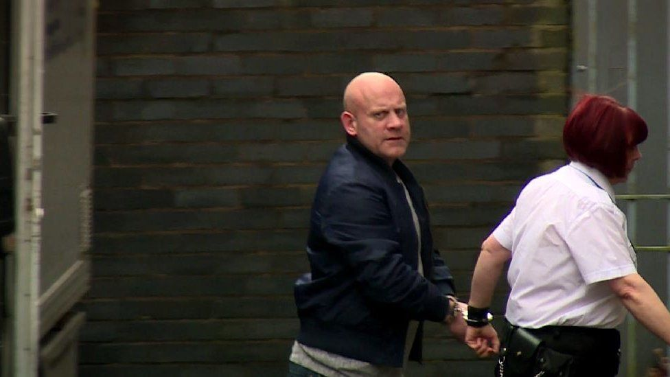 Leslie Baines arriving at court