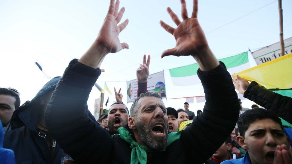 Algerians rally in the northern town of Kherrata marking some of the first Hirak protests on February 16, 2021