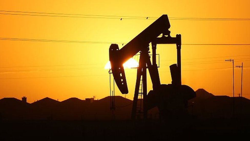 A pumpjack in the oil town of Midland, Texas.