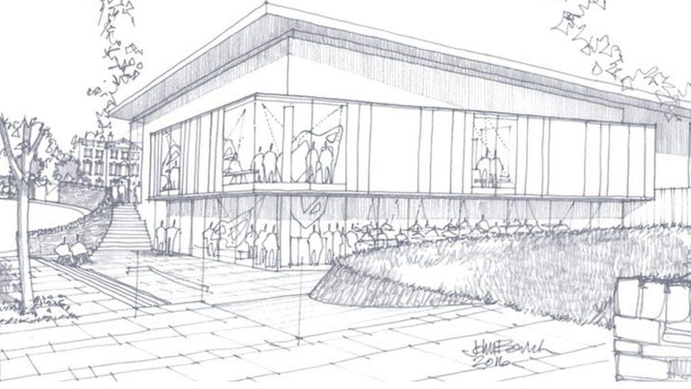 An artist's impression of the gallery