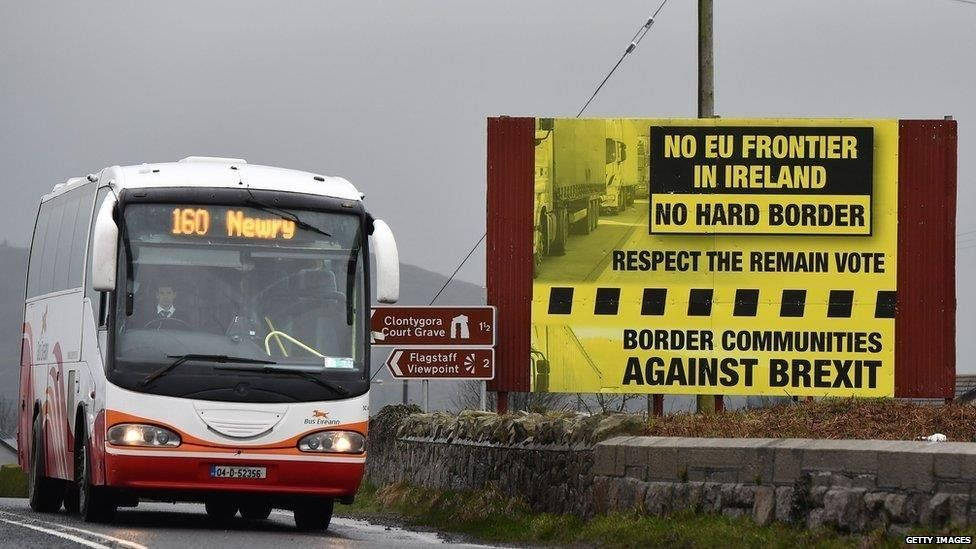 Poster objecting to hard border
