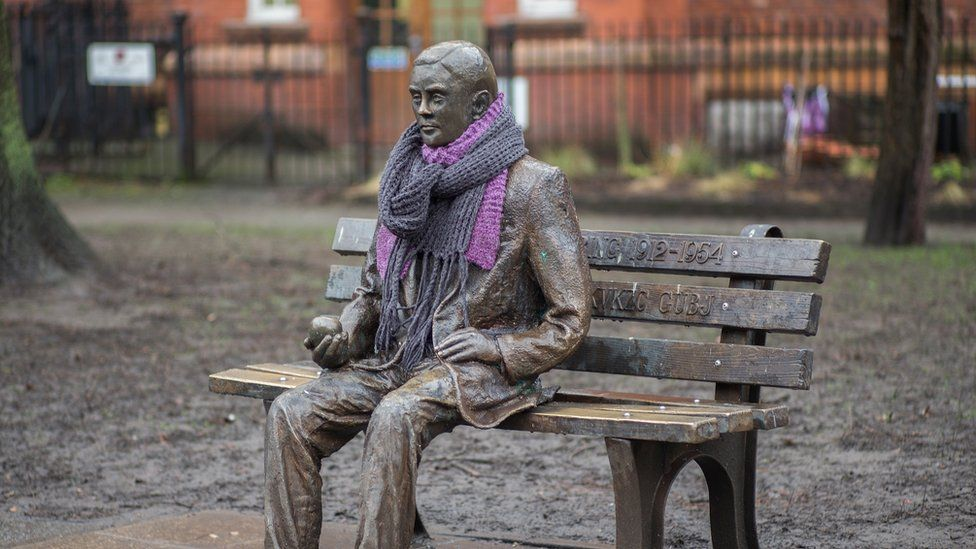 Alan Turing monument in Manchester