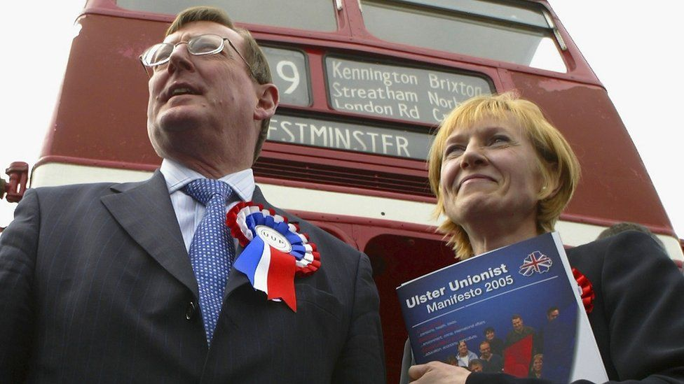 David Trimble and Lady Hermon on the campaign trail in 2005