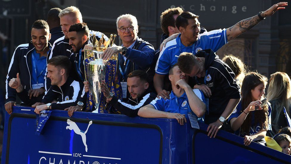 Leicester City bus parade May 2016